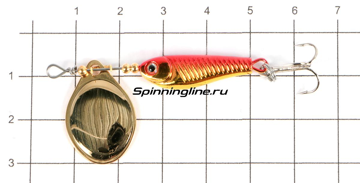 Блесна Daiwa Silver Creek SPINNER(R)1060-C wakasagi - фото на размерной линейке (цвет может отличаться) 1