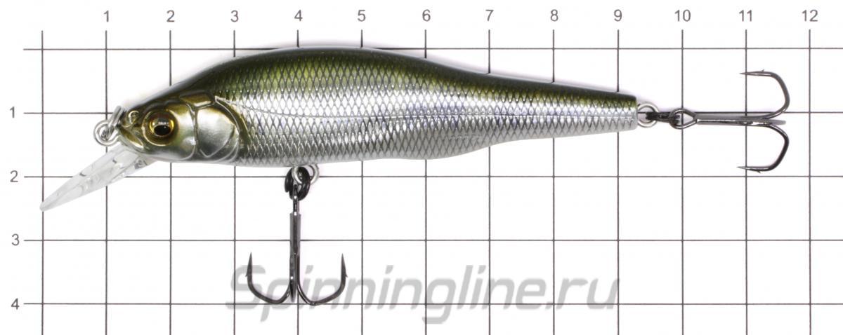 Воблер Megabass X-80 TD SP mat tiger - фото на размерной линейке (цвет может отличаться) 1
