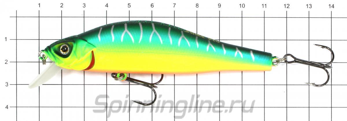 Воблер EG-125B-SP A139 - фото на размерной линейке (цвет может отличаться) 1
