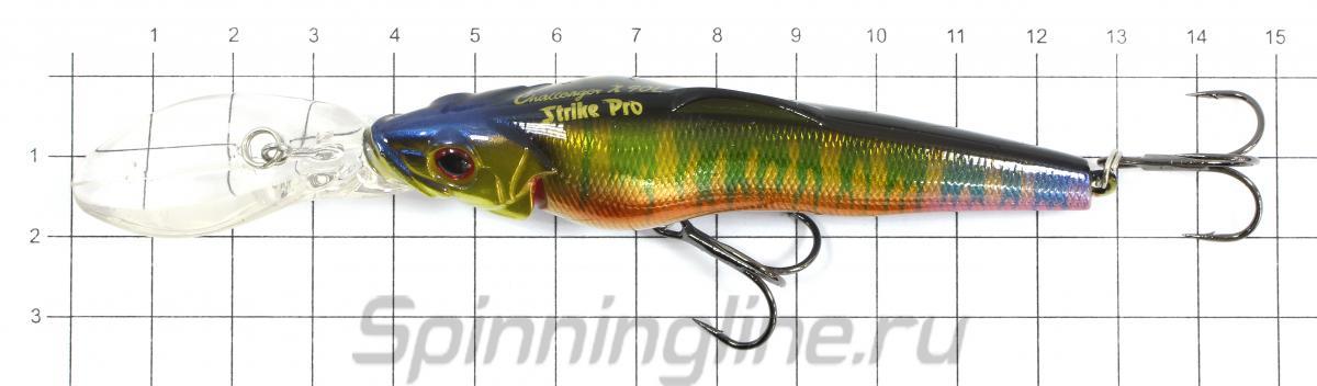 Воблер Strike Pro EG-076CL 613-713 тройник OWNER - фото на размерной линейке (цвет может отличаться) 1