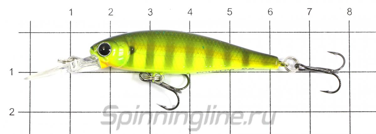 Воблер Lucky Craft Pointer 48DD 5412 Lime Chart Tiger 445 - фото на размерной линейке (цвет может отличаться) 1