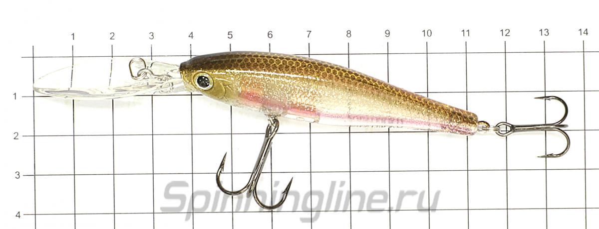 Воблер Lucky Craft Pointer 78XD MS American Shad 270 - фото на размерной линейке (цвет может отличаться) 1