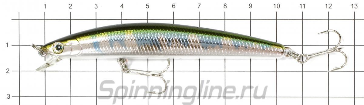 Воблер TD Minnow 1091 F A-1 - фото на размерной линейке (цвет может отличаться) 1