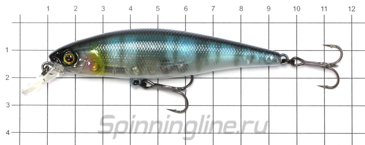 Воблер Jackall Squad Minnow 80 hl bronze blue pike - фото на размерной линейке (цвет может отличаться) 1