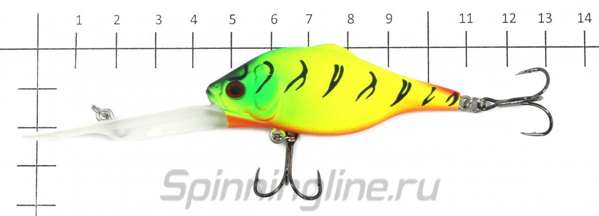 Воблер Rat DD 65F SBL - фото на размерной линейке (цвет может отличаться) 1
