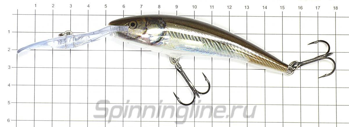 Воблер Rapala Deep Tail Dancer 11 BLT - фото на размерной линейке (цвет может отличаться) 1