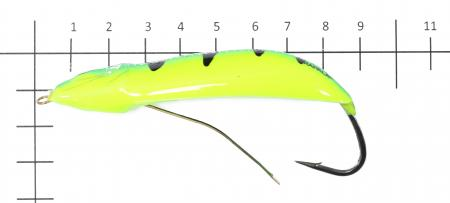 Rapala - Блесна Minnow Spoon 08 FYGT - фотография приманки на линейке