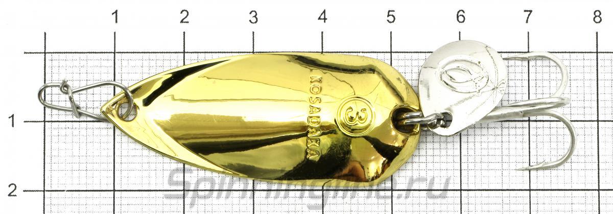 Блесна Kosadaka Grav spoon 12гр Gold - фото на размерной линейке (цвет может отличаться) 1
