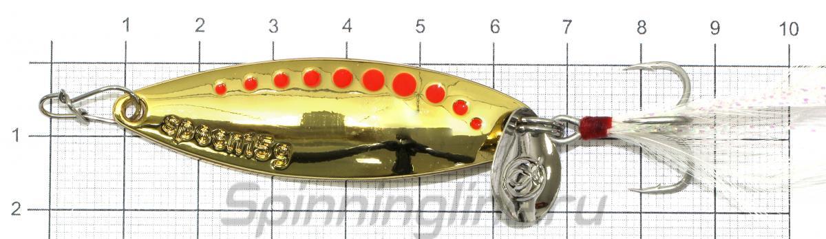 Блесна MLX 15гр Gold - фото на размерной линейке (цвет может отличаться) 1