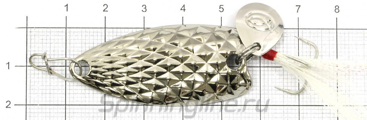 Блесна PIN spoon 7,5гр Gold - фото на размерной линейке (цвет может отличаться) 1