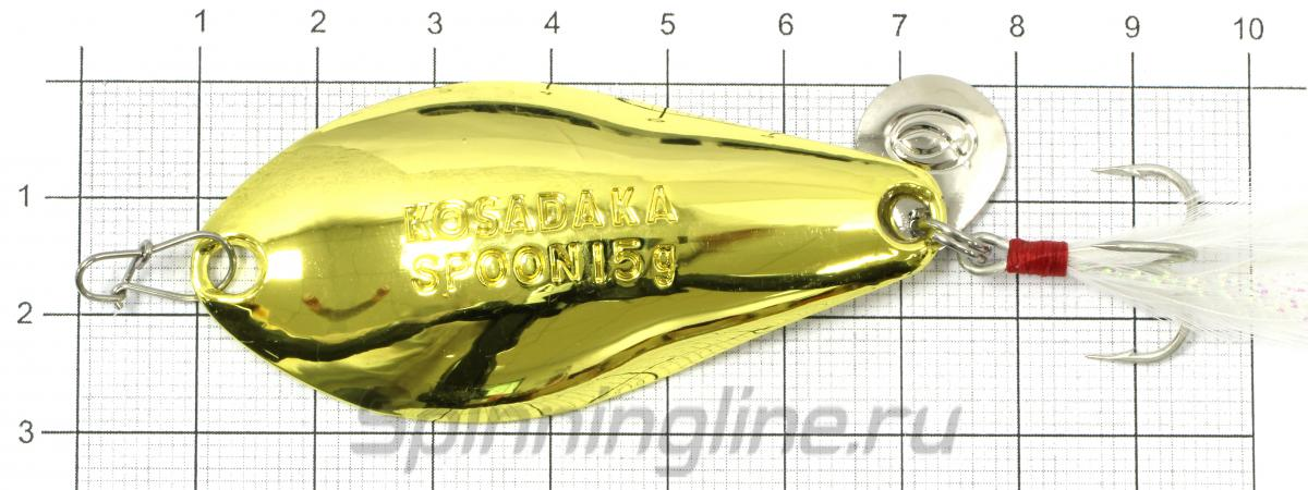 Блесна Warga spoon 15гр Gold - фото на размерной линейке (цвет может отличаться) 1