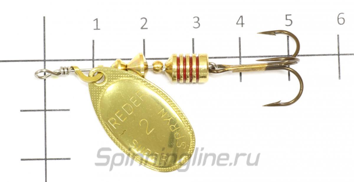 Блесна Reder Metal 1 c - фотография на размерной линейке 1