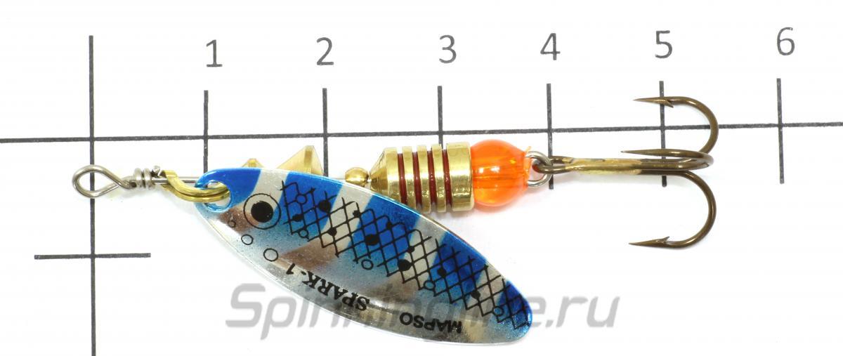 Блесна Spark Trucha 1 or - фотография на размерной линейке 1