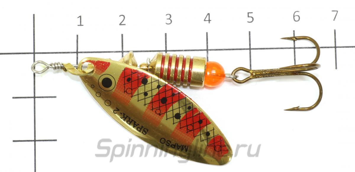 Блесна Spark Trucha 2 pv - фотография на размерной линейке 1