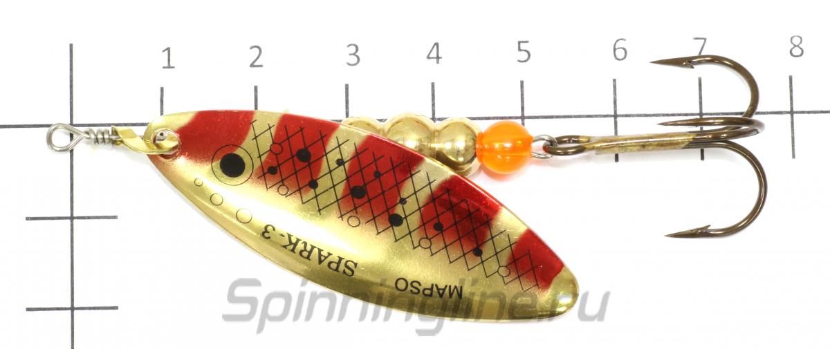 Блесна Spark Trucha 3 pv - фото на размерной линейке (цвет может отличаться) 1