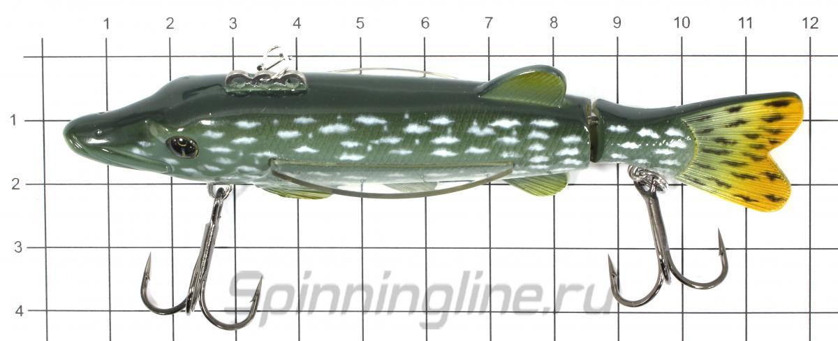 Балансир Izumi Fly Pike J 115 02 - фото на размерной линейке (цвет может отличаться) 1