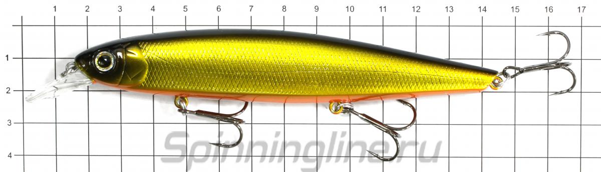 Воблер Deps Balisong Minnow 130F 06 - фото на размерной линейке (цвет может отличаться) 1