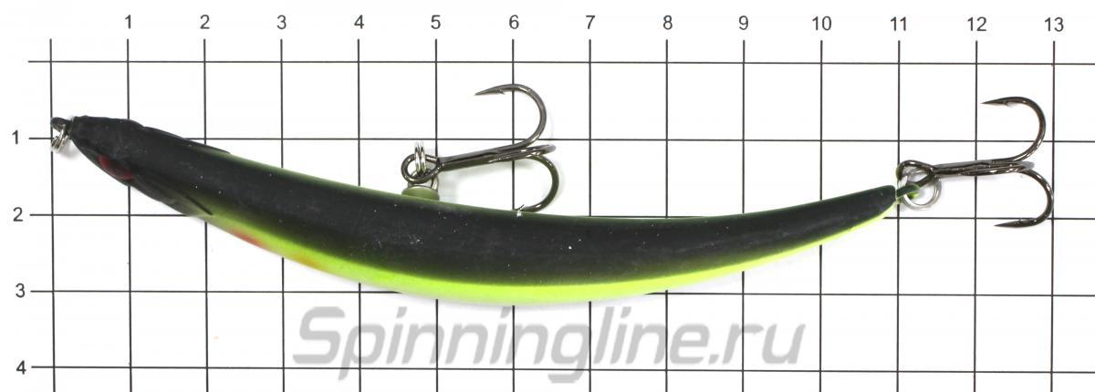 Воблер ZigZag Min 110F Aiko Orange - фото на размерной линейке (цвет может отличаться) 1