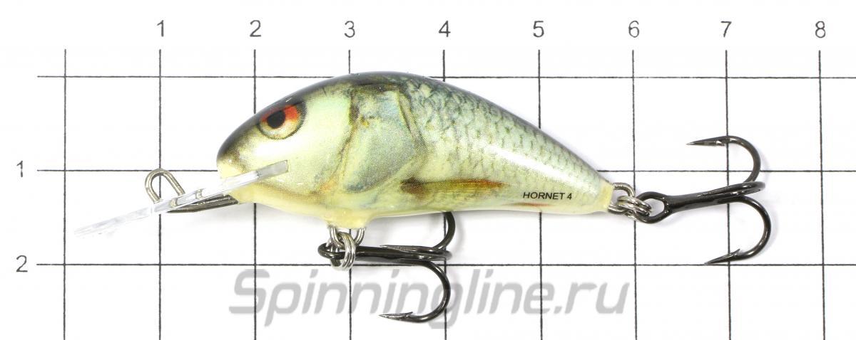 Воблер Hornet F04 GBH - фото на размерной линейке (цвет может отличаться) 1