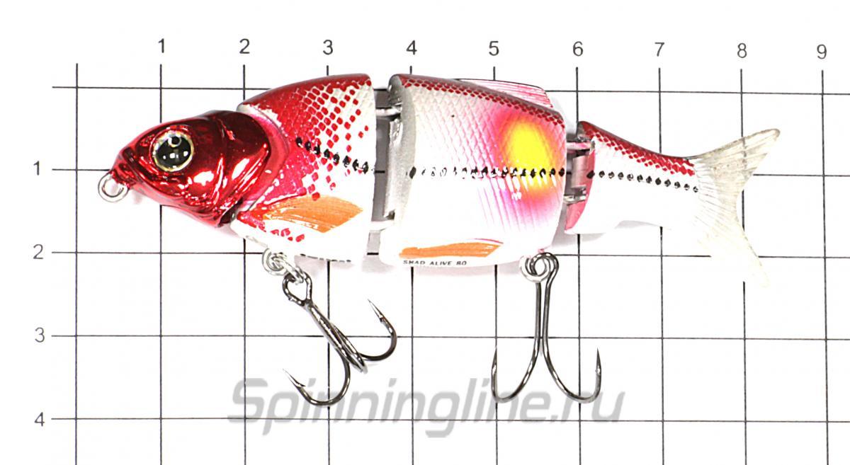 Воблер Izumi Shad Alive 80 FSK-01 - фото на размерной линейке (цвет может отличаться) 1
