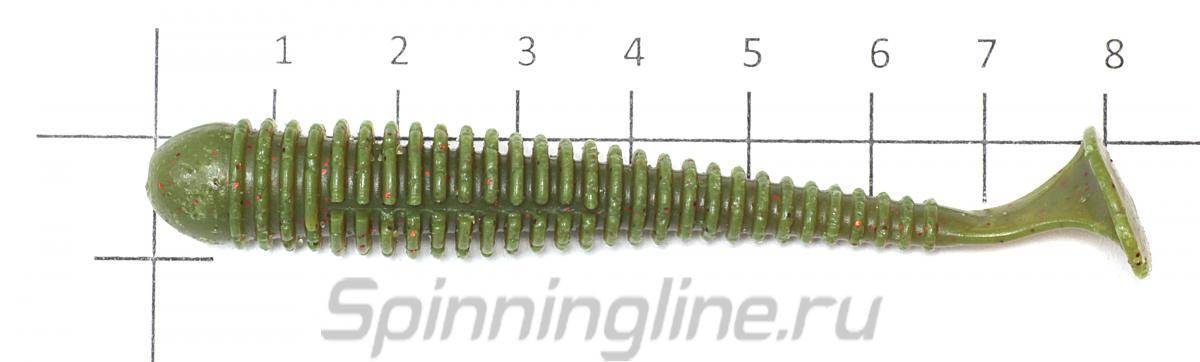 """Приманка Vibro Worm 3.4"""" 12-6-F - фото на размерной линейке (цвет может отличаться) 1"""