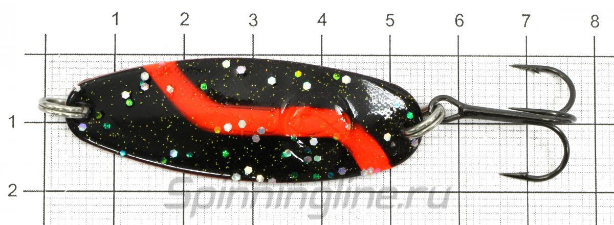 Блесна Micron 9гр BS - фотография на размерной линейке 1