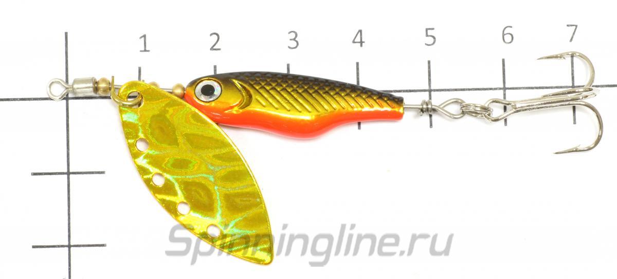 Блесна Silver Creek SPINNER Z 1090 avalon black gold - фото на размерной линейке (цвет может отличаться) 1