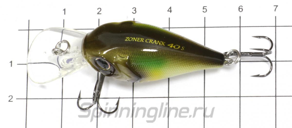 Воблер Zoner Crank 40S 04 Blue Gill - фото на размерной линейке (цвет может отличаться) 1