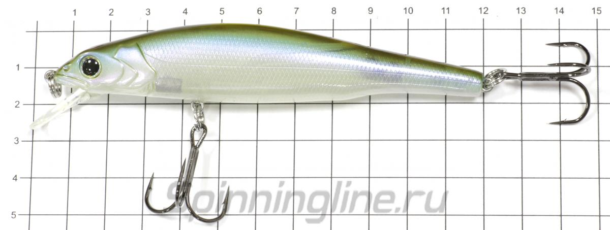 Воблер Zoner Minnow 110SP 01 Oikawa - фото на размерной линейке (цвет может отличаться) 1