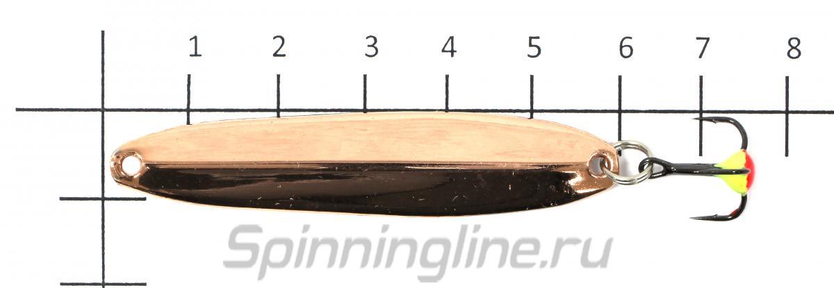 Блесна Nord Water's Судачья 60 A red flex - фото на размерной линейке (цвет может отличаться) 1