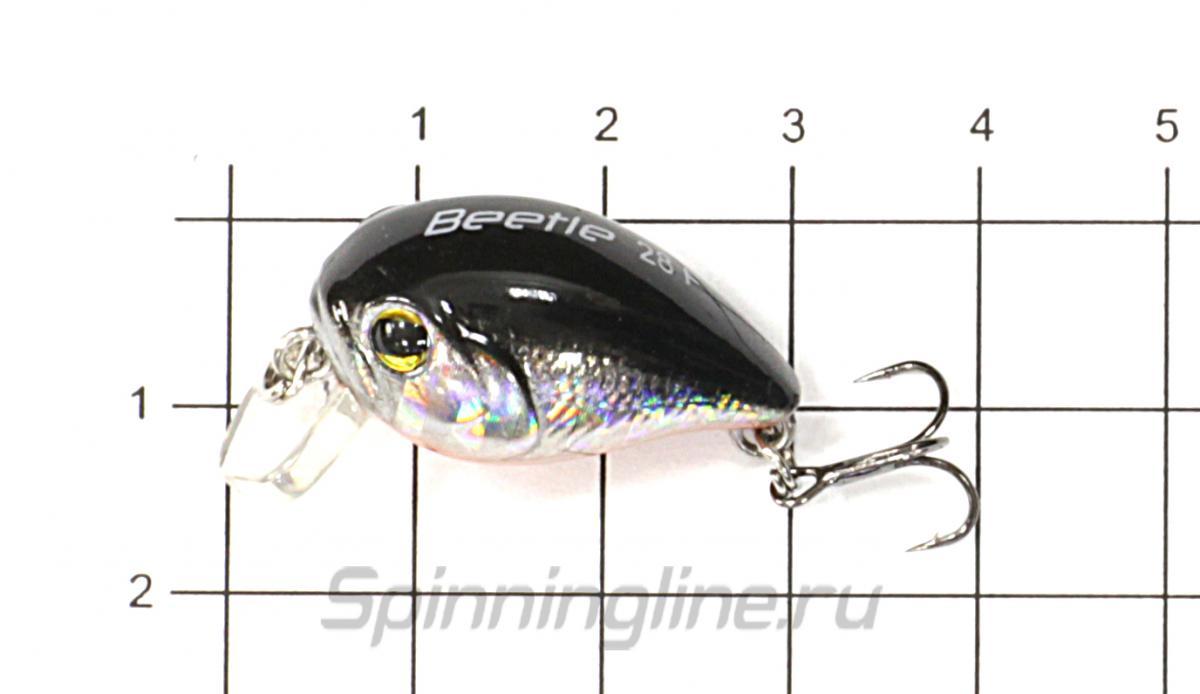 Воблер Renegade Beetle 28F FA168 - фото на размерной линейке (цвет может отличаться) 1