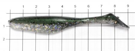 "Bass Assasin - Приманка Sea Shad 4"" SSA25380 - фотография приманки на линейке"
