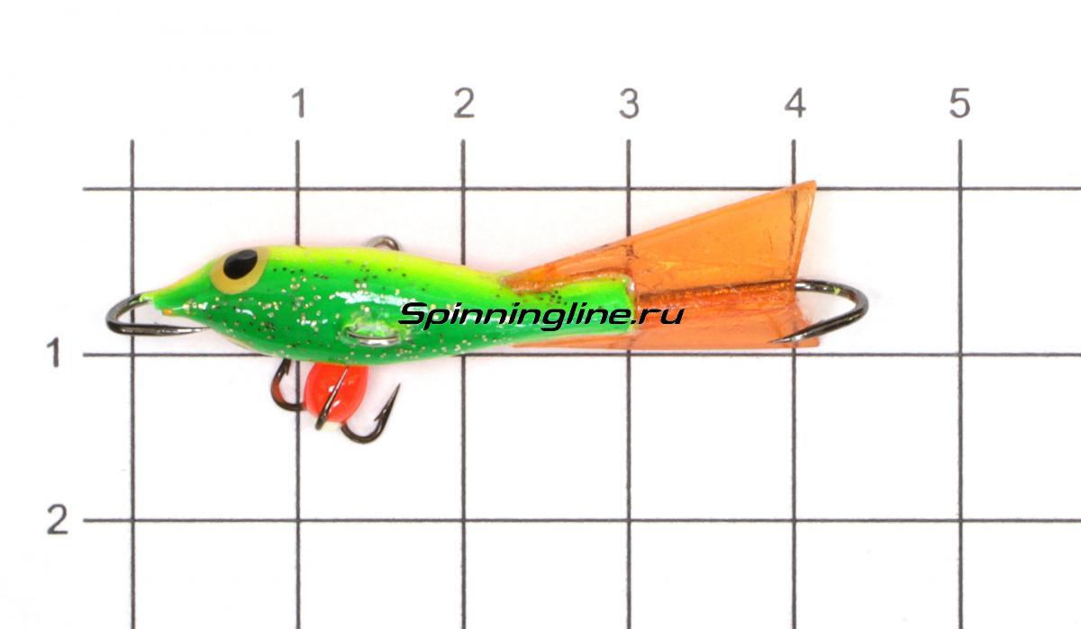 Балансир Fisherman Ладога 319 BYR светящийся - фото на размерной линейке (цвет может отличаться) 1