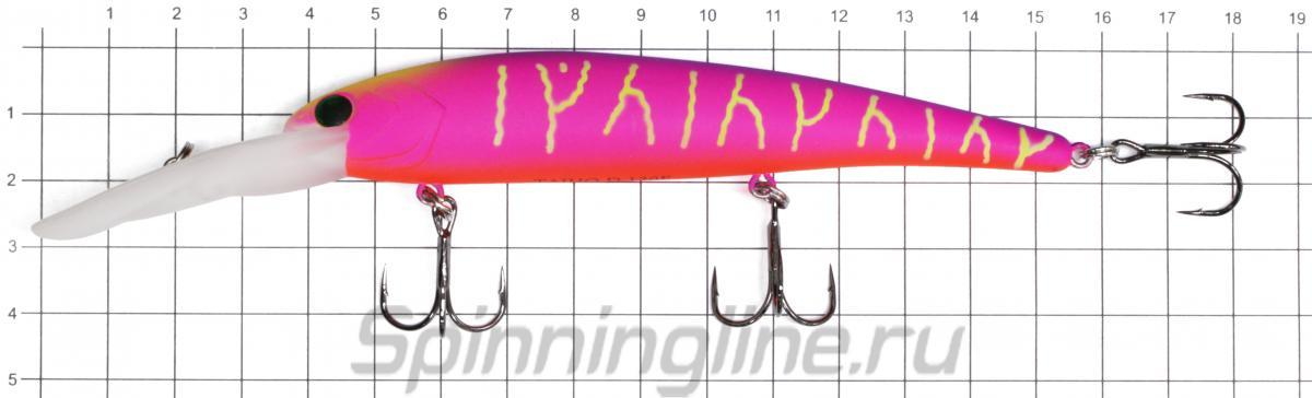 Воблер Sprut Taiho D 120F SB-EP - фото на размерной линейке (цвет может отличаться) 1