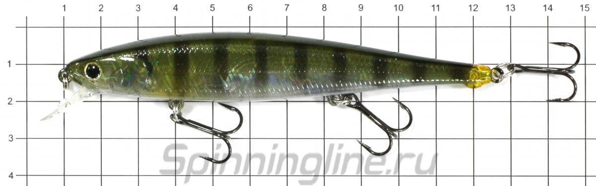 Воблер Flash Pointer 115SP Ghost Threadfin Shad 186 - фото на размерной линейке (цвет может отличаться) 1