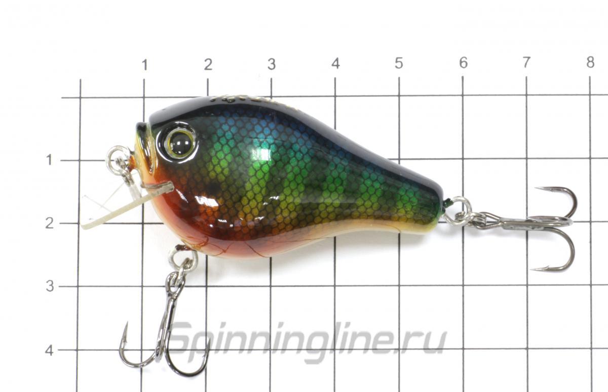 Воблер Crank 50 Brown Rainbow - фото на размерной линейке (цвет может отличаться) 1