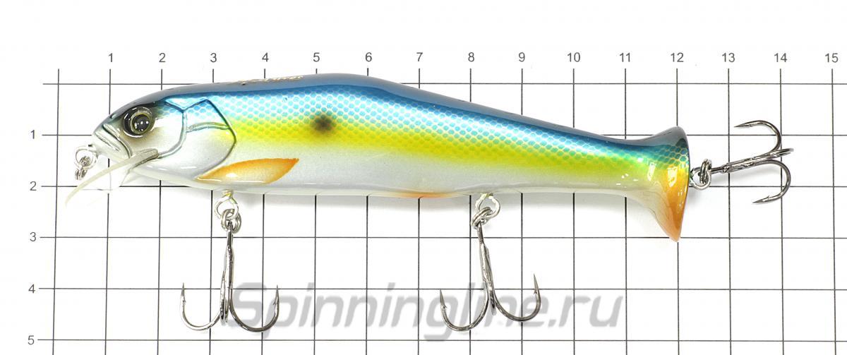 Воблер Tail Grabber 125 043 - фото на размерной линейке (цвет может отличаться) 1