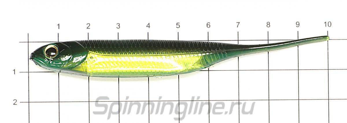 """Приманка Flash J 4"""" SW 129 Kisu/Silver - фото на размерной линейке (цвет может отличаться) 1"""