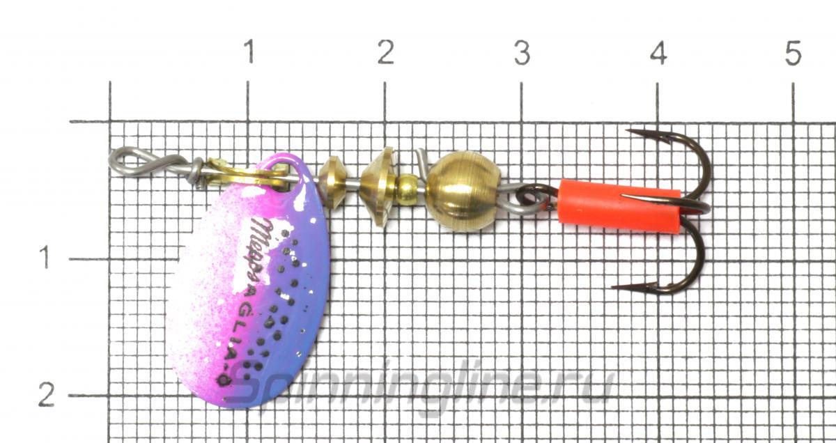 Блесна Mepps Aglia 0 Brown/Gold 2,5гр - фото на размерной линейке (цвет может отличаться) 1
