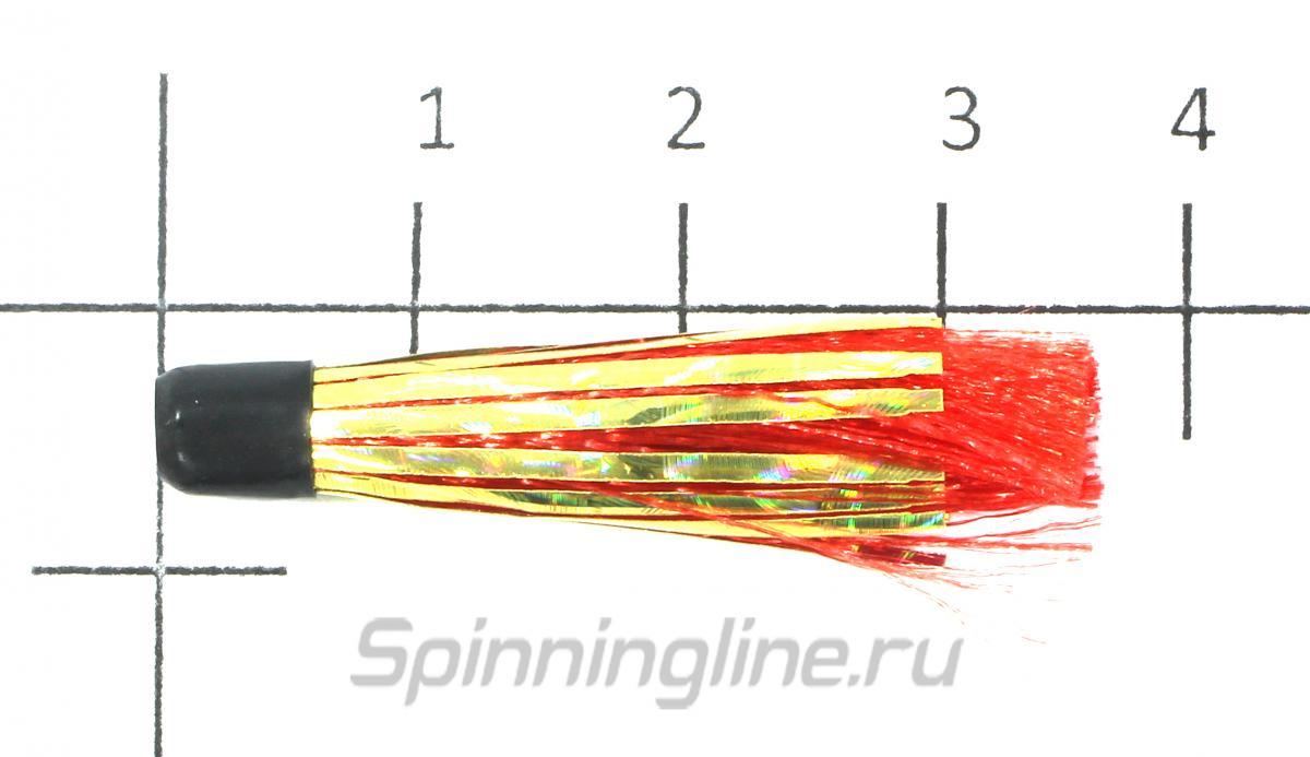 Вабик 3.5см d-3мм красный - фотография на размерной линейке 1