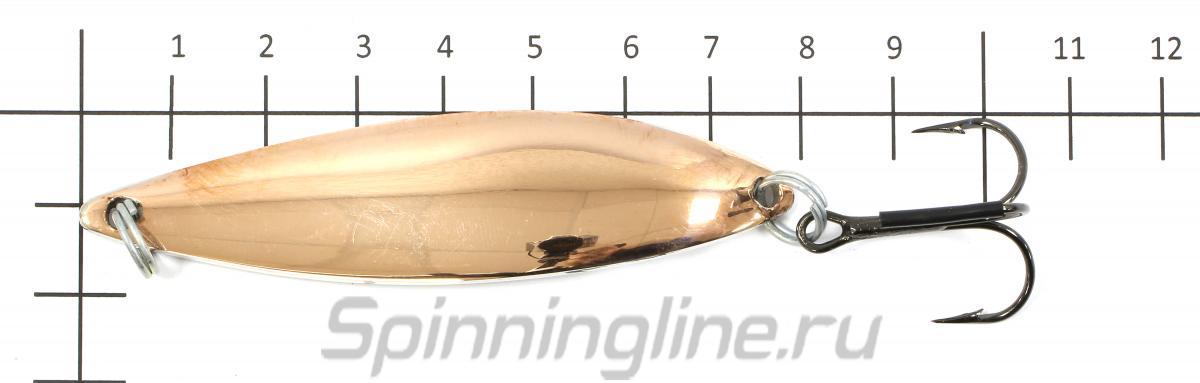 Блесна Вектор латунь/никель 17гр - фото на размерной линейке (цвет может отличаться) 1
