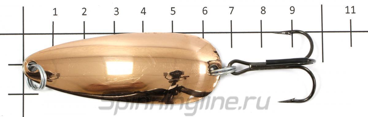 Блесна Ивенка латунь/медь 22гр - фото на размерной линейке (цвет может отличаться) 1