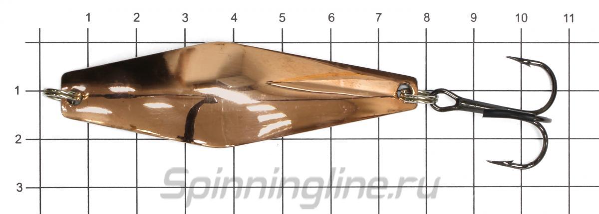 Блесна Колебалка-Питер Кольская никель 15гр - фото на размерной линейке (цвет может отличаться) 1