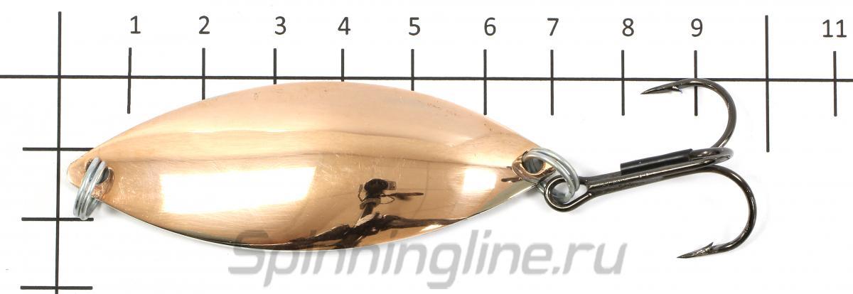 Блесна Крокодил медь fluo15гр - фото на размерной линейке (цвет может отличаться) 1