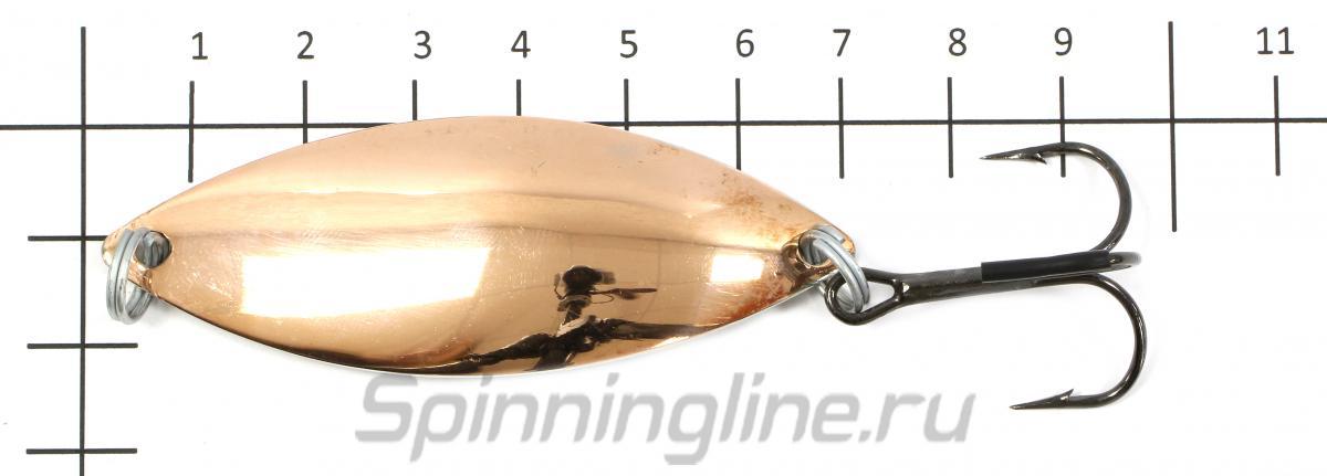 Блесна Крокодил латунь/медь 12гр - фото на размерной линейке (цвет может отличаться) 1