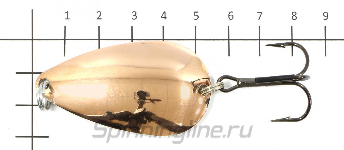 Блесна Ложка-Классика латунь/медь 20гр - фото на размерной линейке (цвет может отличаться) 1