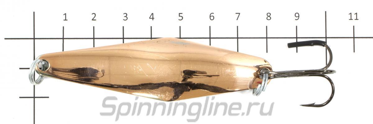 Блесна Прохоровка никель 20гр - фотография на размерной линейке 1