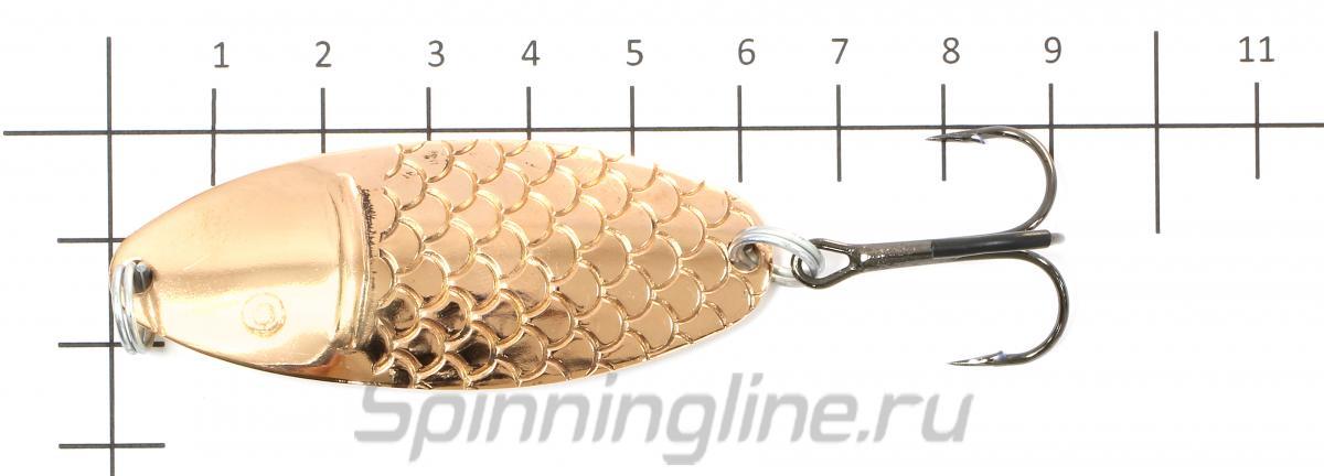 Блесна Черноспинка латунь/медь 20гр - фото на размерной линейке (цвет может отличаться) 1