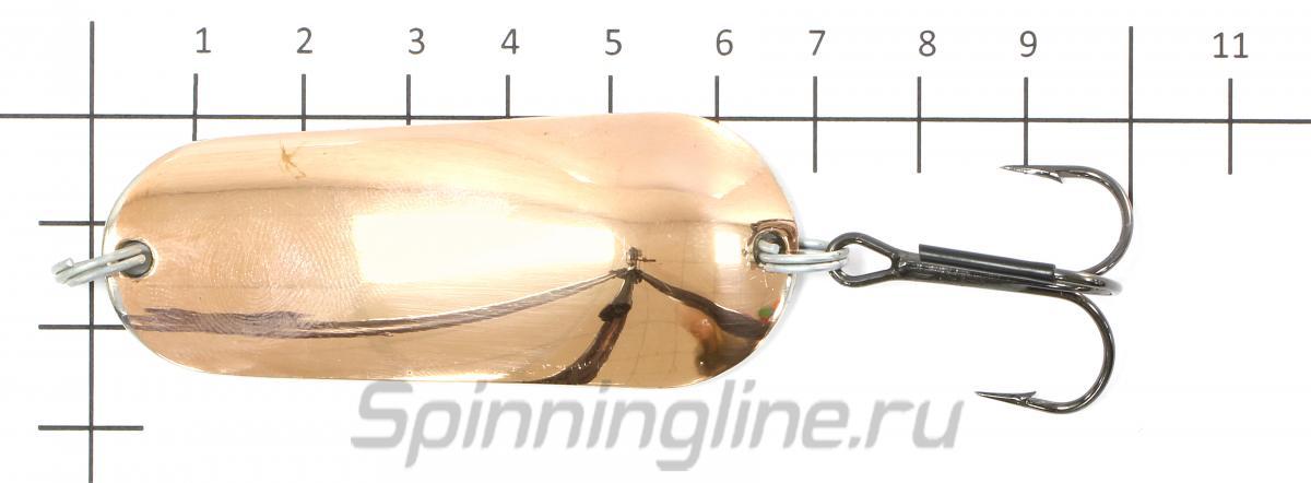Блесна Шторлинг медь/никель 27гр - фотография на размерной линейке 1