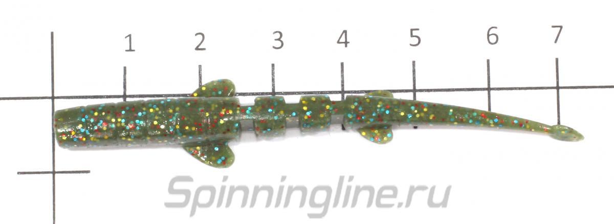 Приманка Unagi Slug 76/F08 - фото на размерной линейке (цвет может отличаться) 1